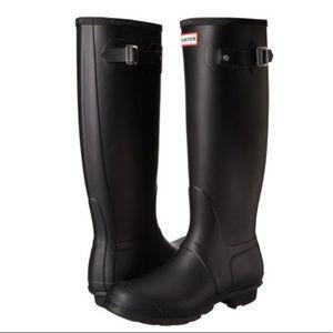 Original Matte Black Tall Hunter Boots